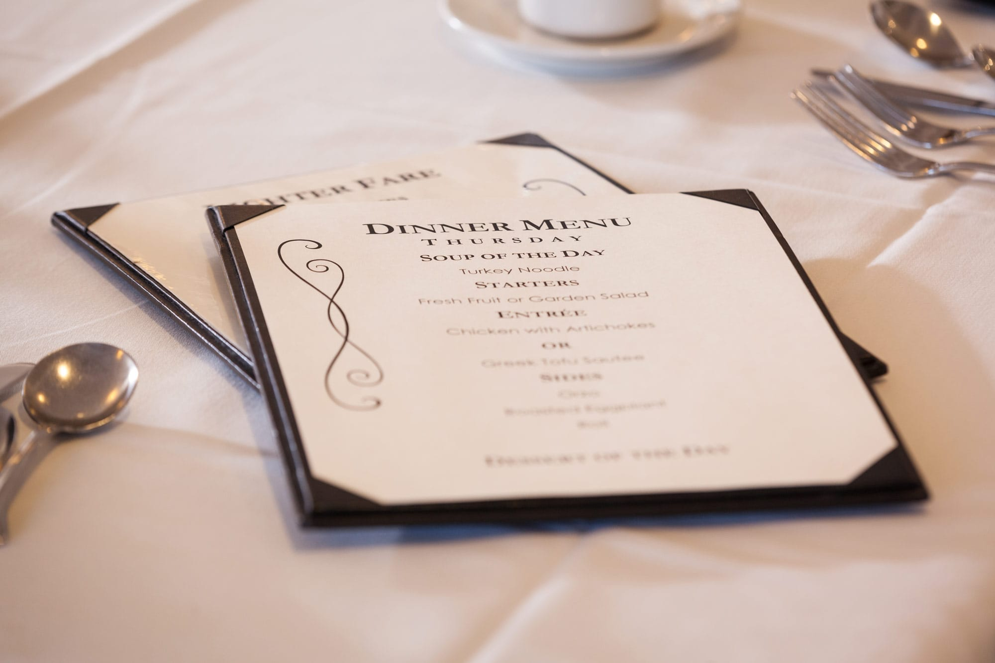 A look at one of the daily menus