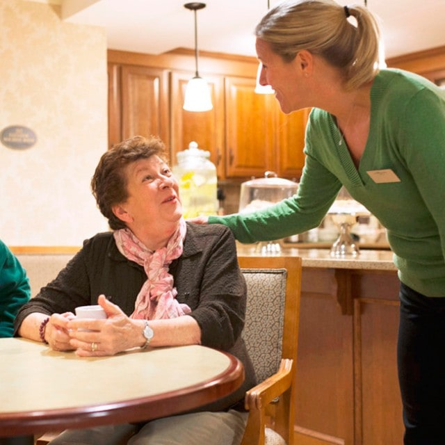 Staff provides high quality and personalized care to residents
