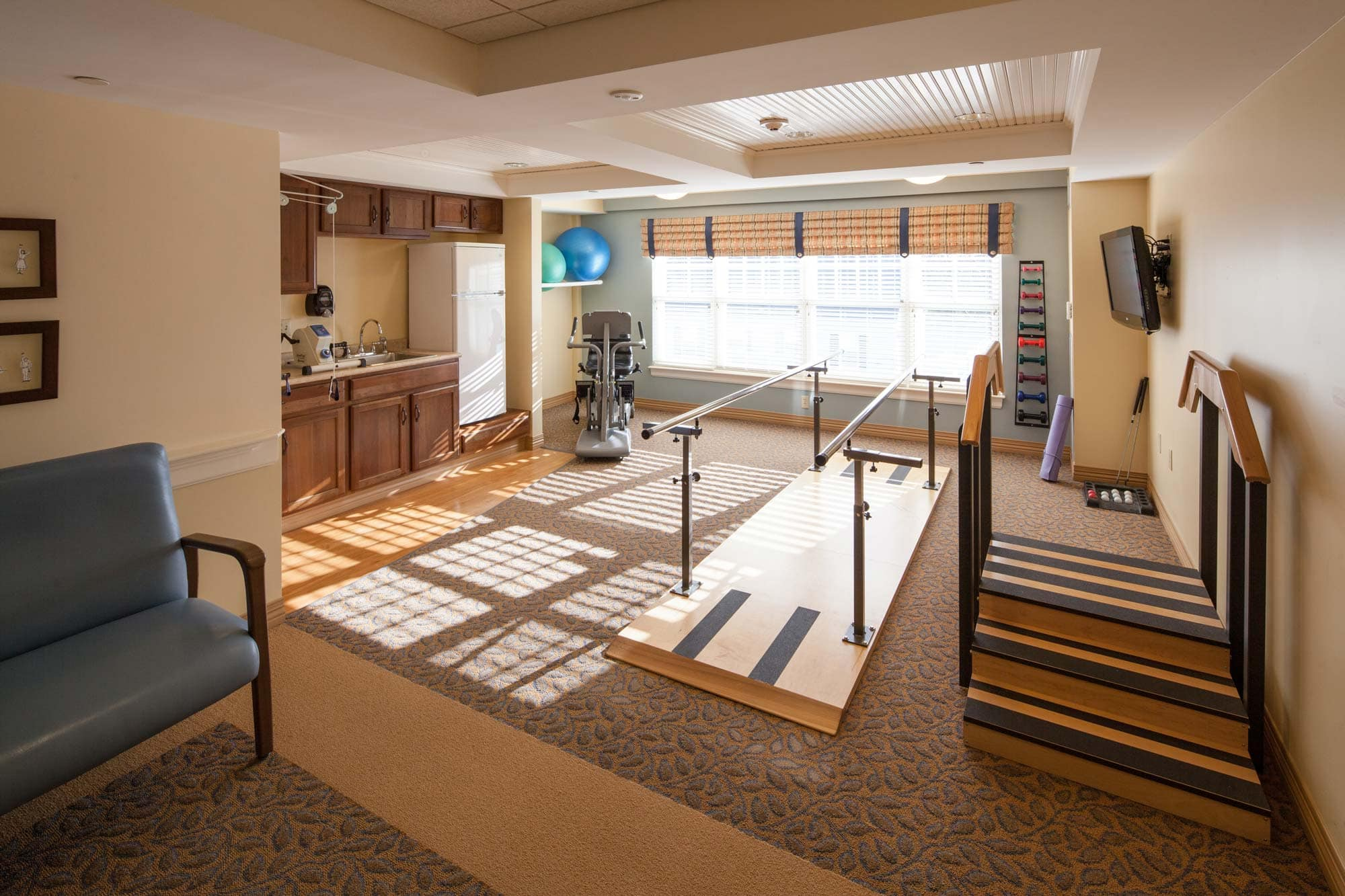 View into therapeutic wellness center