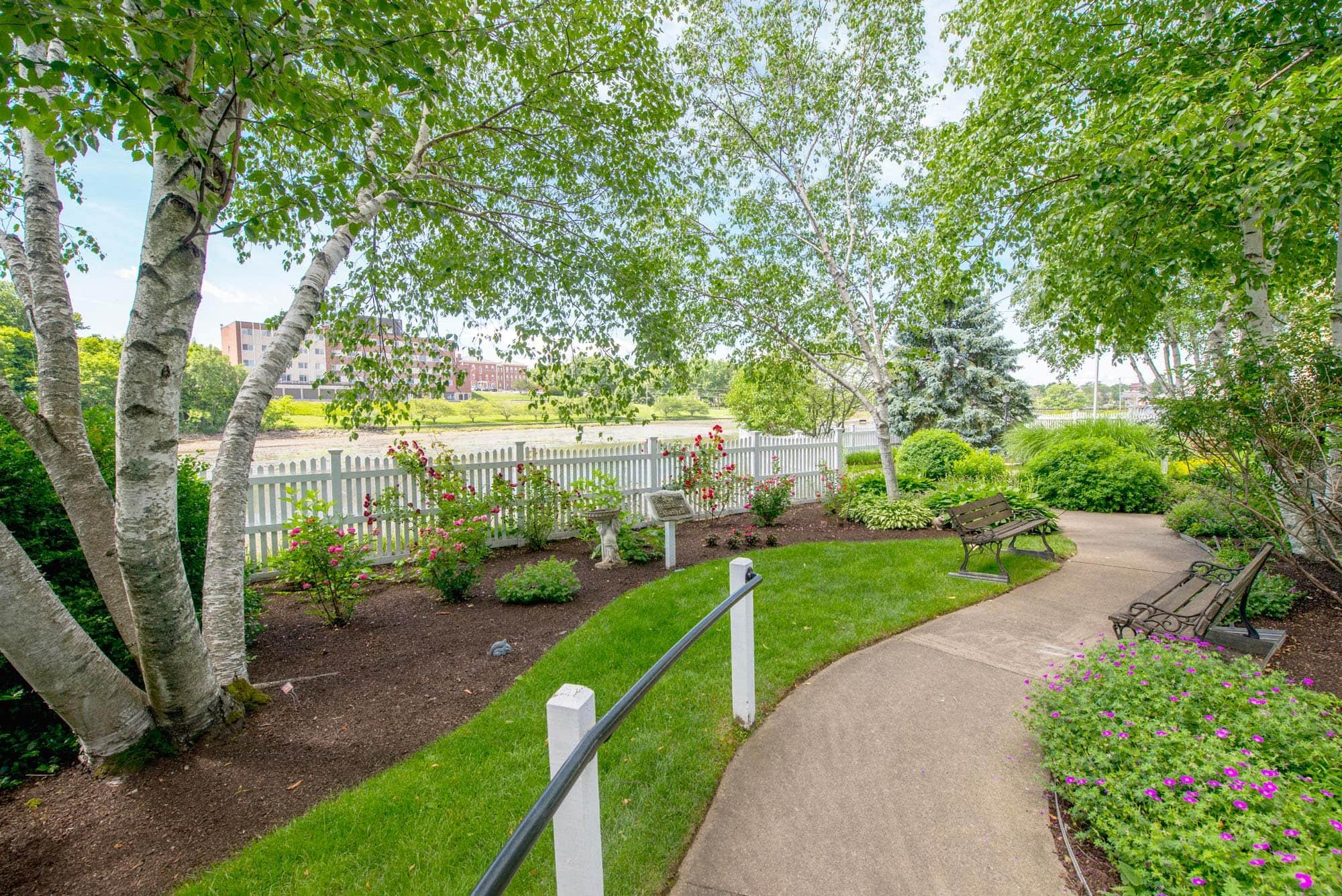 The Wentworth Senior Living garden walking path