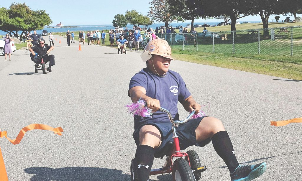 Tricycle relay race for Alzheimer's Association